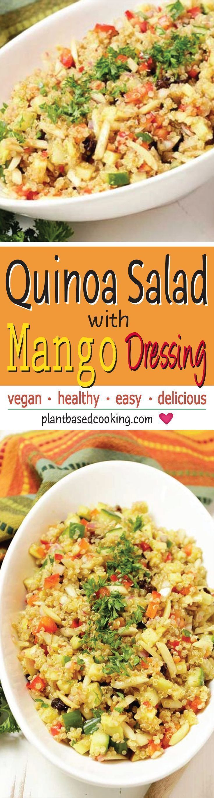 Quinoa Salad With Mango Dressing