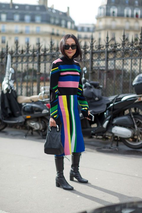 Street goes chic in Paris. Here are 25 street style look from Paris Fashion Week: