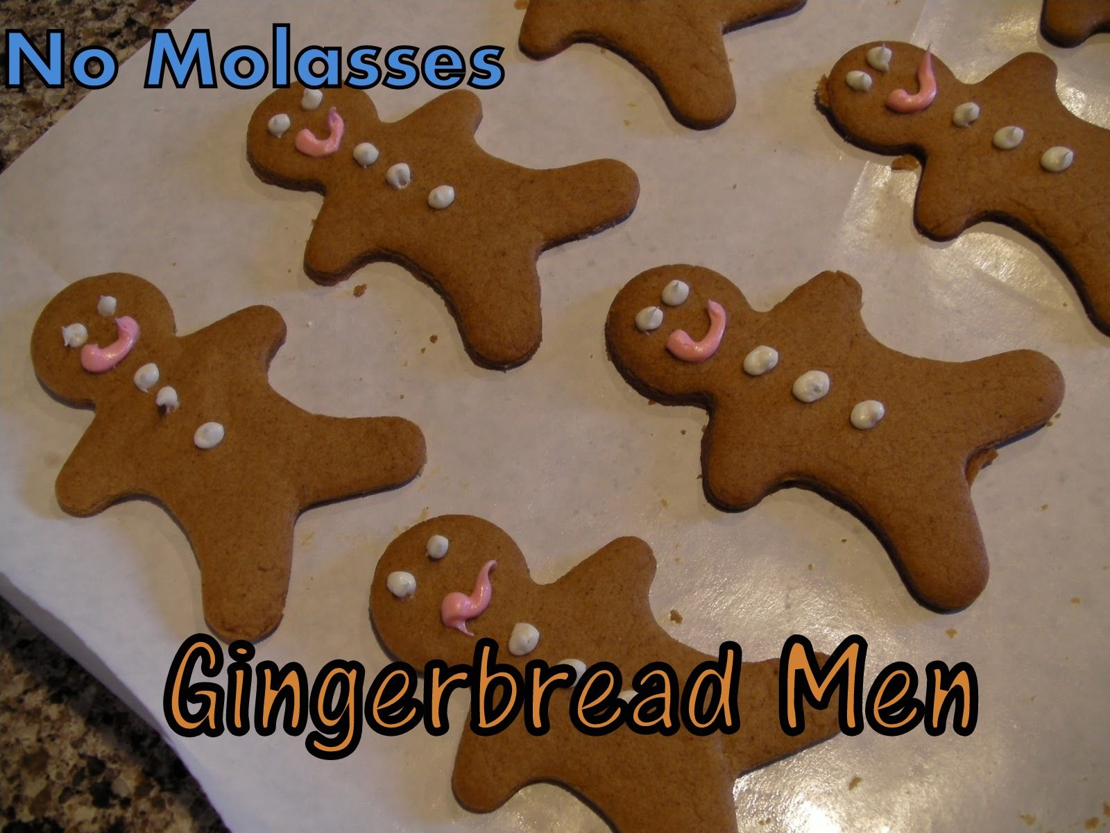 No Molasses Gingerbread Men on MyRecipeMagic.com