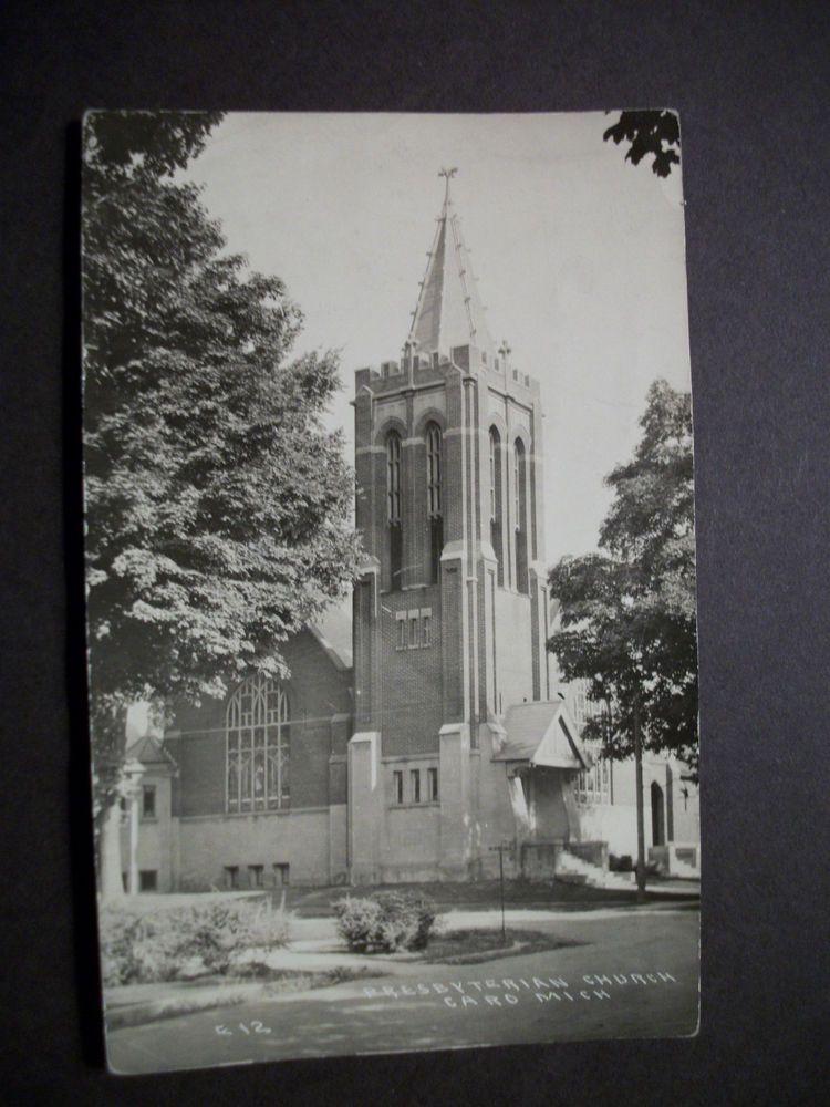 Real Photo, RPPC, Presbyterian Church, Caro, Michigan, V7160