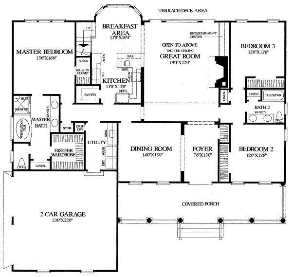 Really Cool House Floor Plans main level-really cool house with a fourth bed upstairs and bath