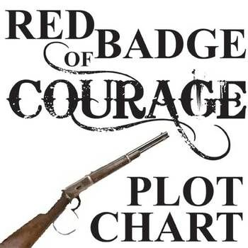 Red Badge Of Courage Plot Chart Organizer Diagram Arc By Crane Plot Chart Courage Badge