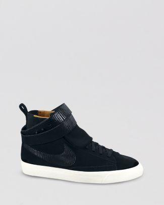 Nike Noir Chaussures De Sport Haut Top Suède Torsion Blazer