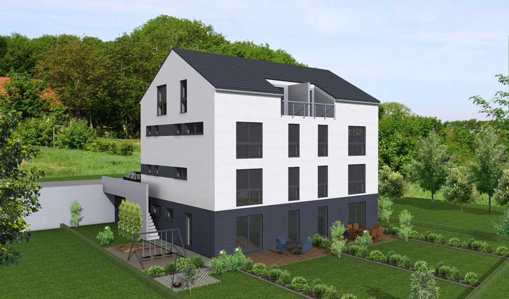 Bauobjekt Mehrfamilienhaus in Diez - Neubau von 4 Eigentumswohnungen - LiK-Wohnbau - http://rheinland-pfalz.neubaukompass.de/Diez/Bauvorhaben-Mehrfamilienhaus-in-Diez/
