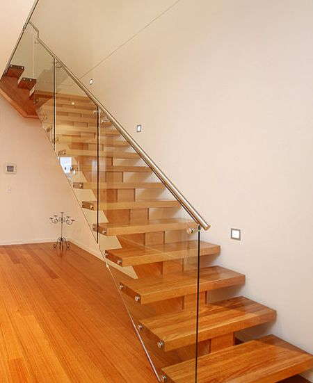 Modern Staircase With Open Glass Panel Side And Wooden | Stairs With Glass Sides