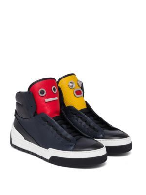 f53145a130 FENDI Faces Calf Leather High-Top Sneakers. #fendi #shoes #sneakers ...