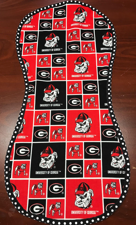 Bulldogs hand made burp cloth college football