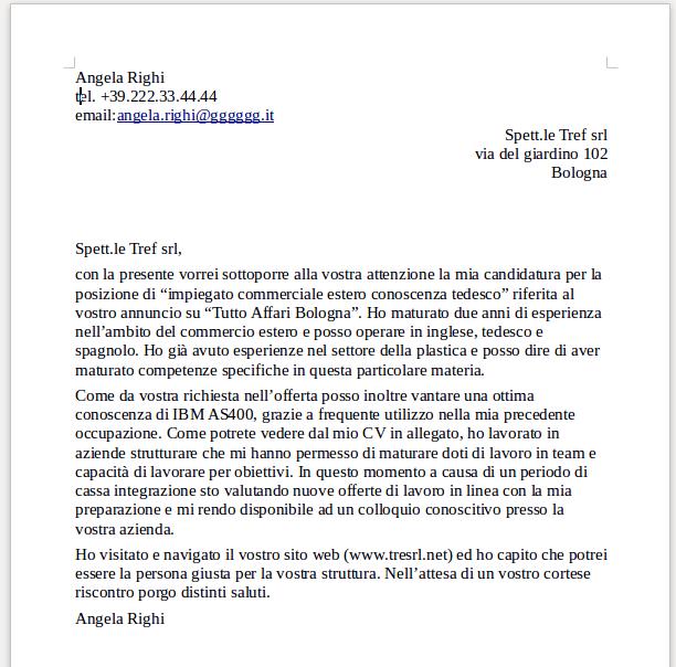 Lettera Di Presentazione Per Azienda Lettera Di Presentazione Lettera Modelli Di Lettera
