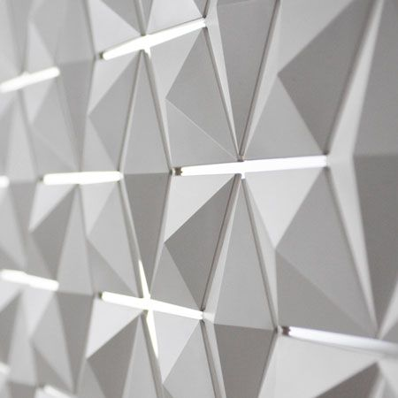 Cloison amovible design... | Tile design, White patterns and 3d wall