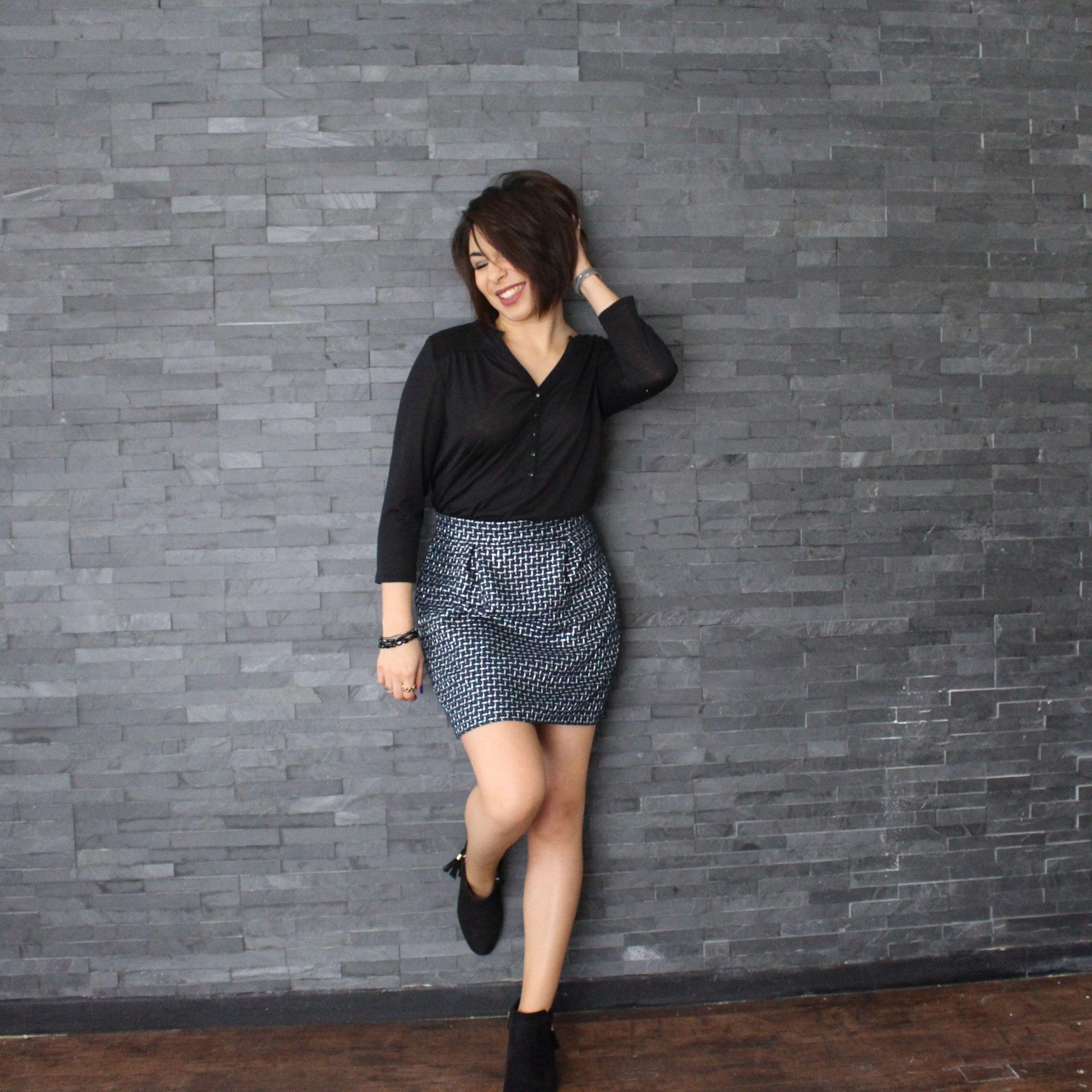patron de jupe facile pour d buter nina patron couture mouna sew pinterest patron de. Black Bedroom Furniture Sets. Home Design Ideas