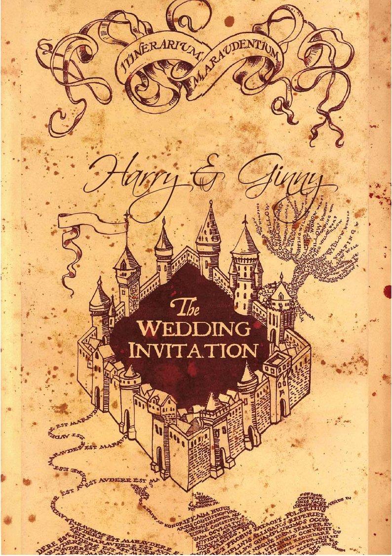 Printed I M Up For A Good Wedding Customisable Marauders Map Harry Potter Wedding Invitation Harry Potter Marauders Map Harry Potter Wallpaper Harry Potter Marauders