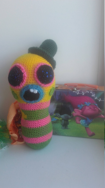 Mr.Dinkles Crochet toy Trolls Plush toy Caterpillar Soft toy The ...