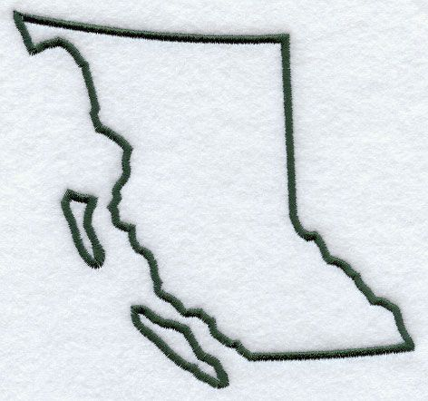 British Columbia Outline Canada Tattoo Map Tattoos Small