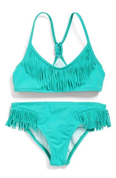 Billabong Fringe Bikini (Little Girls Big Girls) available at #Nordstrom