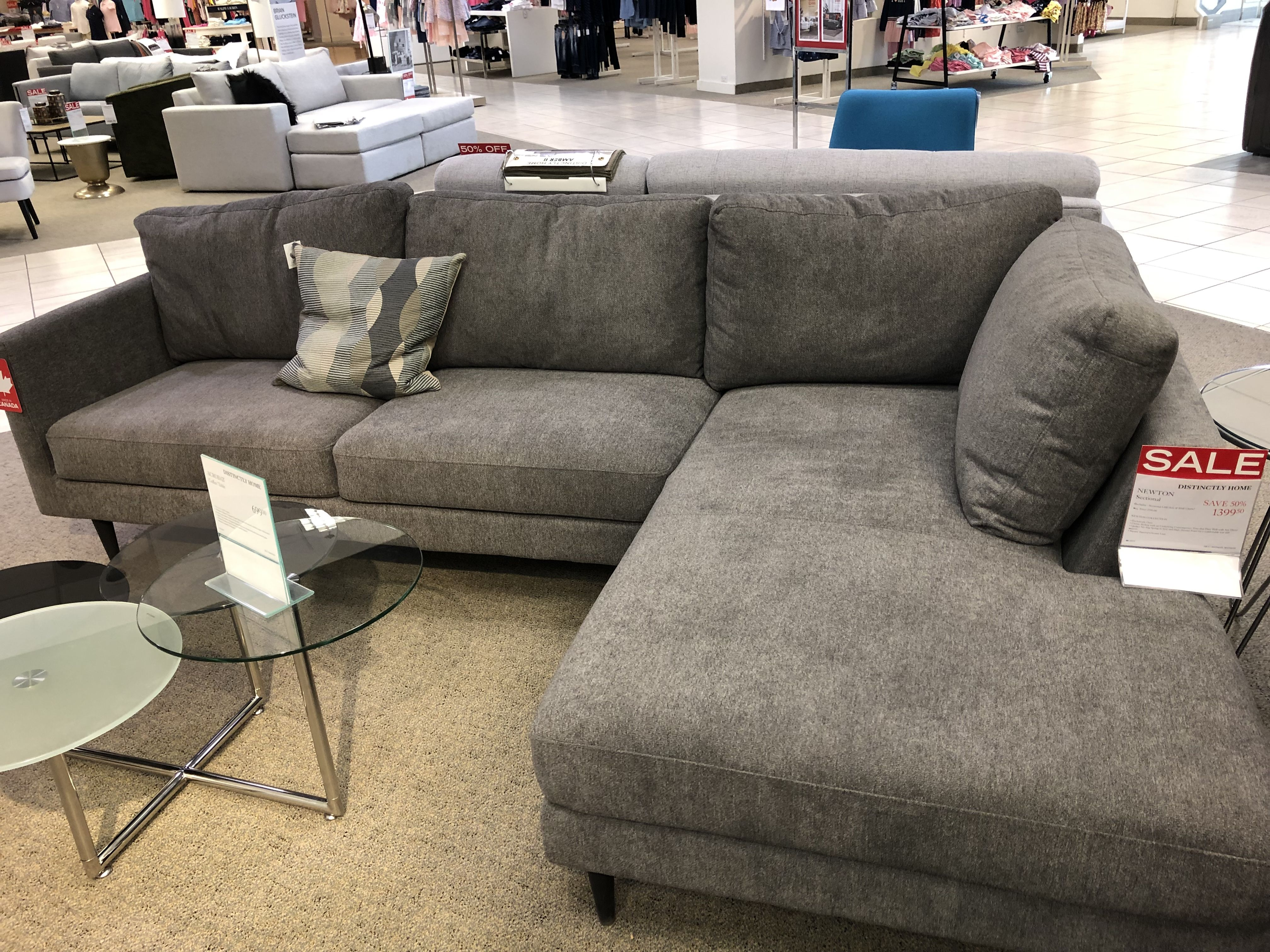 Distinctly Home Newton Sectional With Chaise Sectional Couch
