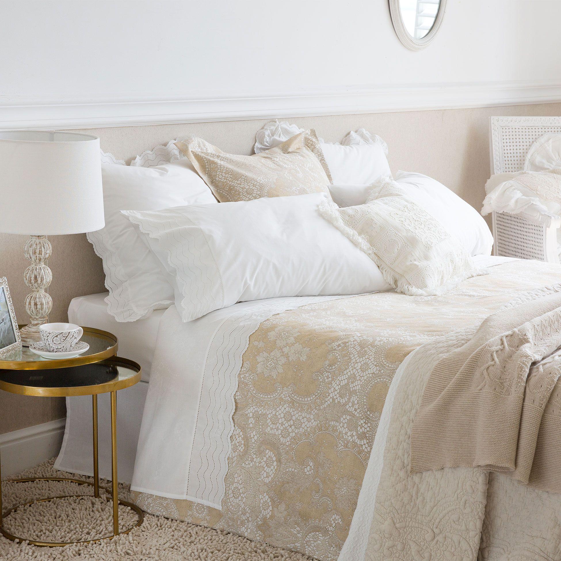S banas y fundas estampado efecto encaje zara camas y - Sabanas sheridan espana ...