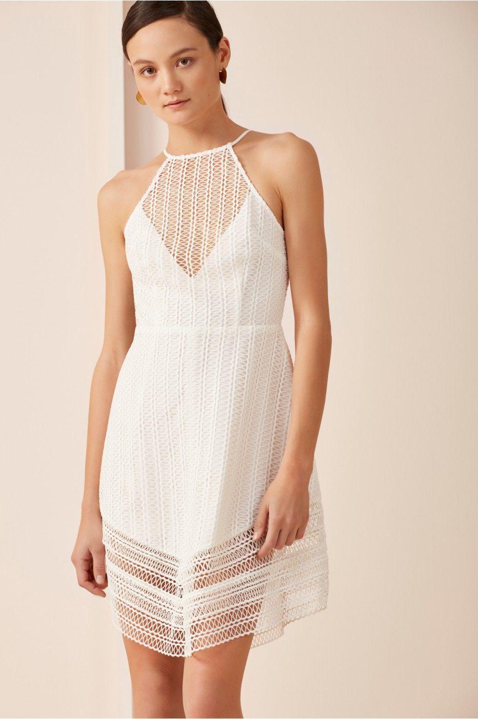 Keepsake all night lace mini dress ivory dresses lace