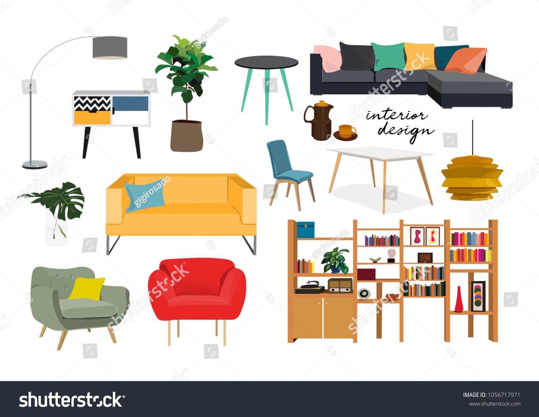 Furniture Collection Vector Interior Design Elements Sponsored