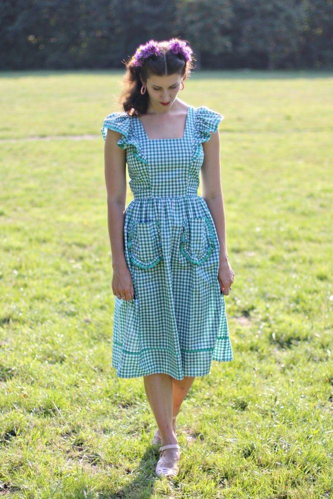 Pinafleur - 1940s Vintage style pinafore dress