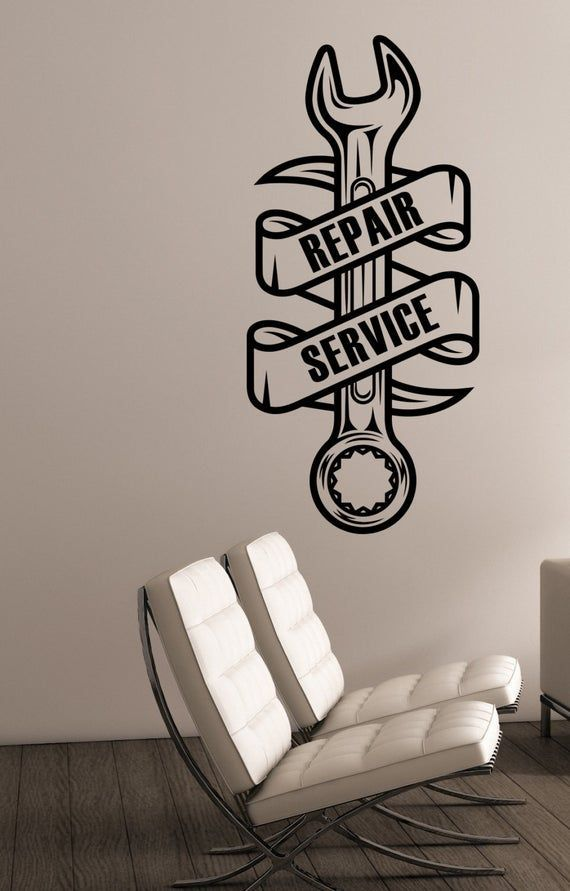Repair Service Logo Vinyl Wall Decal Custom Sticker Auto Car Salon Sign Garage Decorations Mechanic What should a perfectly modern garage be like A perfect garage means n...