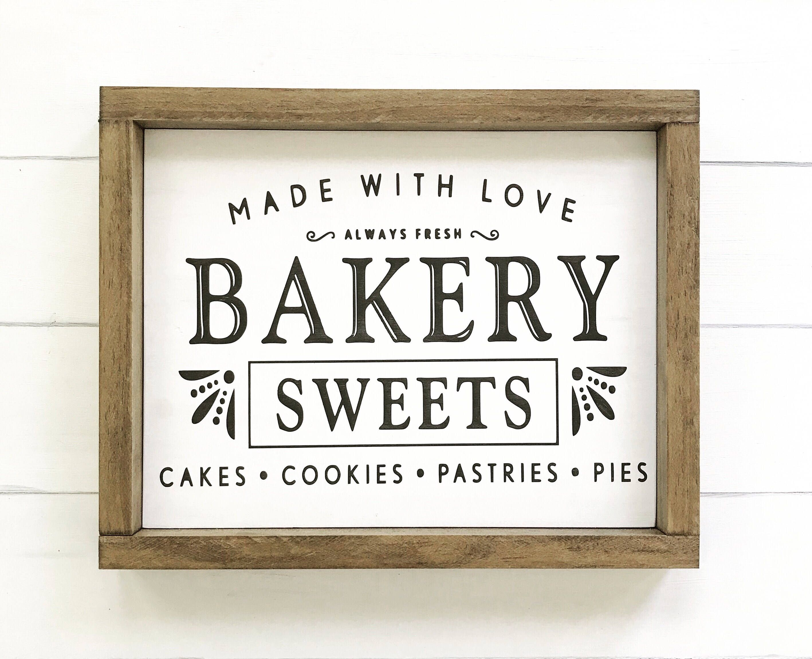 Bakery Sign- FREE SHIPPING - hand painted sign, kitchen decor, cook ...