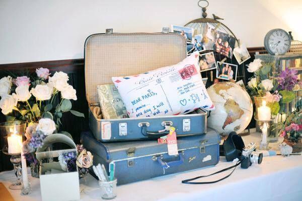 colocarei um frasco dentro da mala de viagem para os convidados colocarem as prendas para a lua de mel| ❤️vanuska❤️