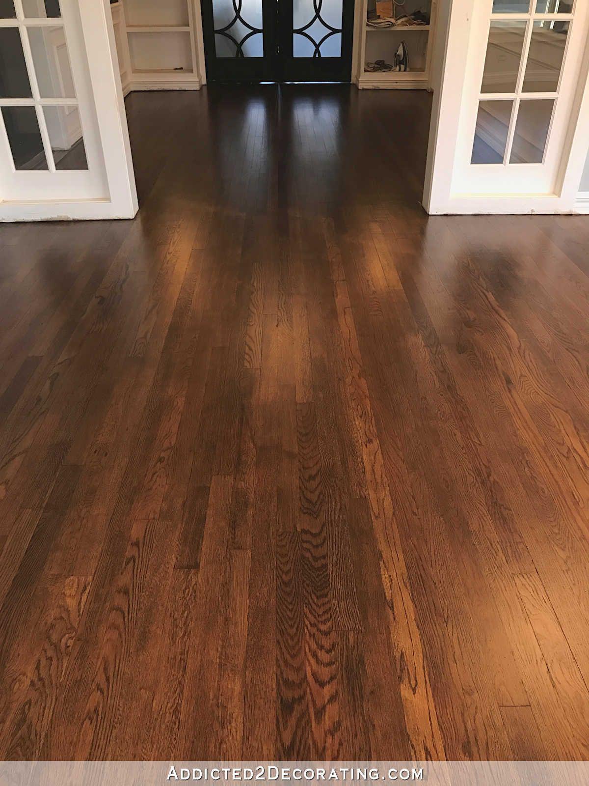 My Newly Refinished Red Oak Hardwood Floors Oak hardwood