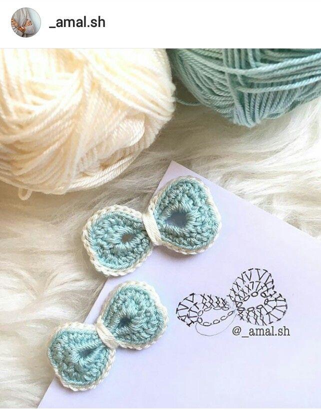 Ig Amal Crochet Bow Pattern Diagram Crochet