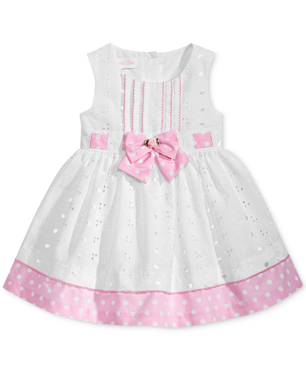 Bonnie baby dotprint eyelet dress baby girls months