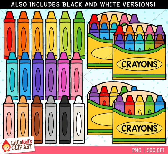 Crayons Clip Art Clip Art Crayon Art Bundle