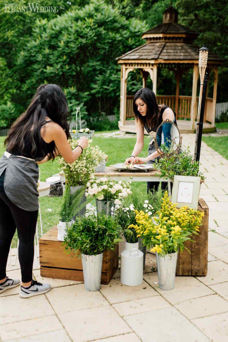 Summer Garden Bridal Shower Ideas, Flower Station Ideas, Wedding ...