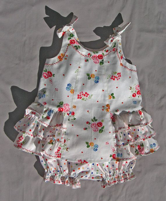Baby dress and diaper cover sewing pattern SUNNY DRESS & BLOOMERS ...