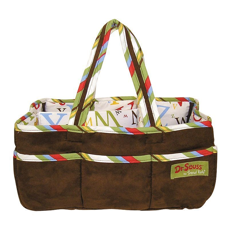 Dr. Seuss ABC Diaper Storage Caddy By Trend Lab, Brown