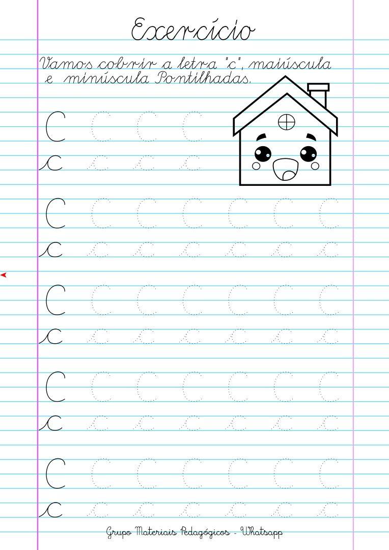 Caligrafia Alfabeto E Numeros Atividades Letra C Atividades