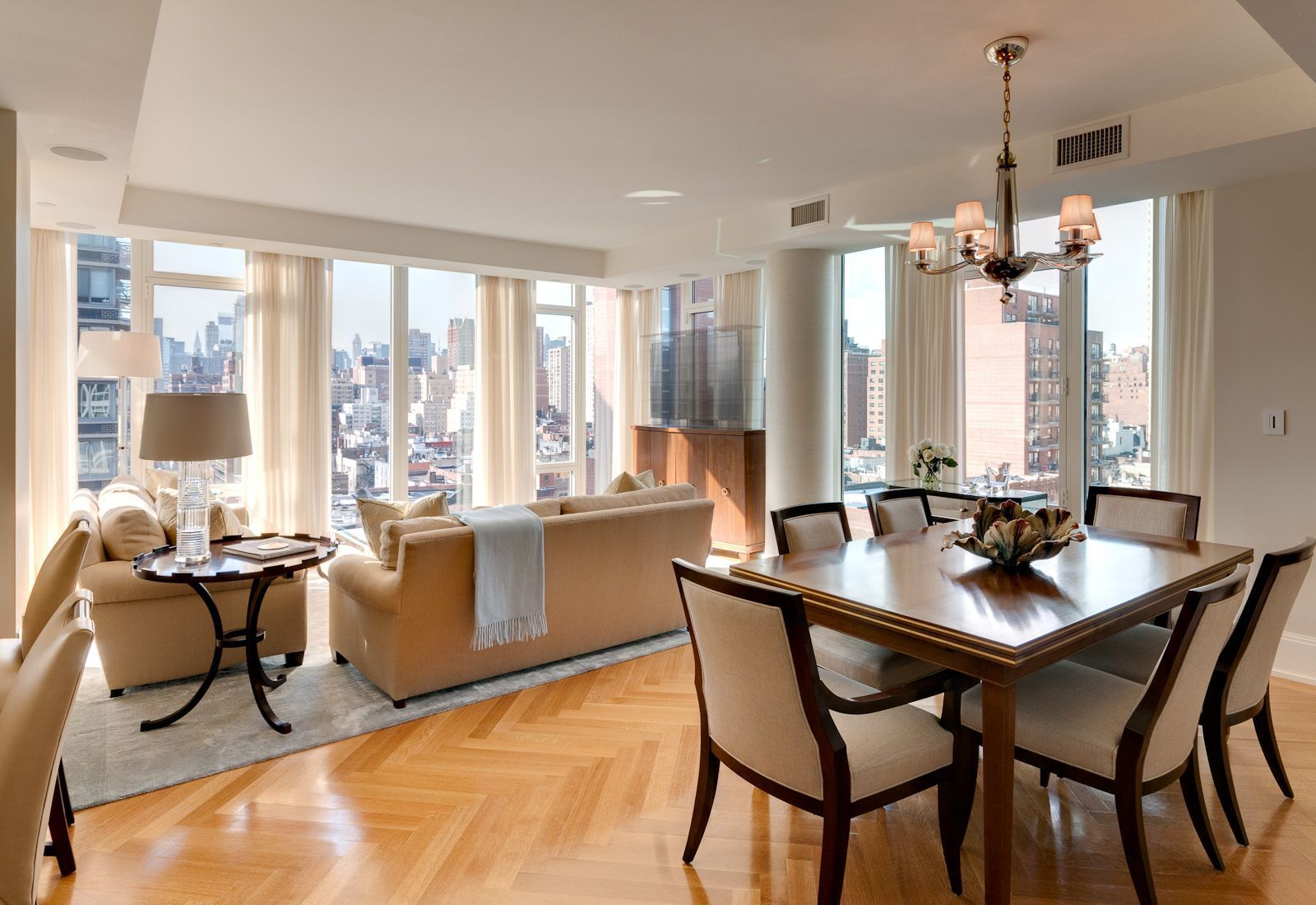 combined living and dining room design | Elegant Small ...