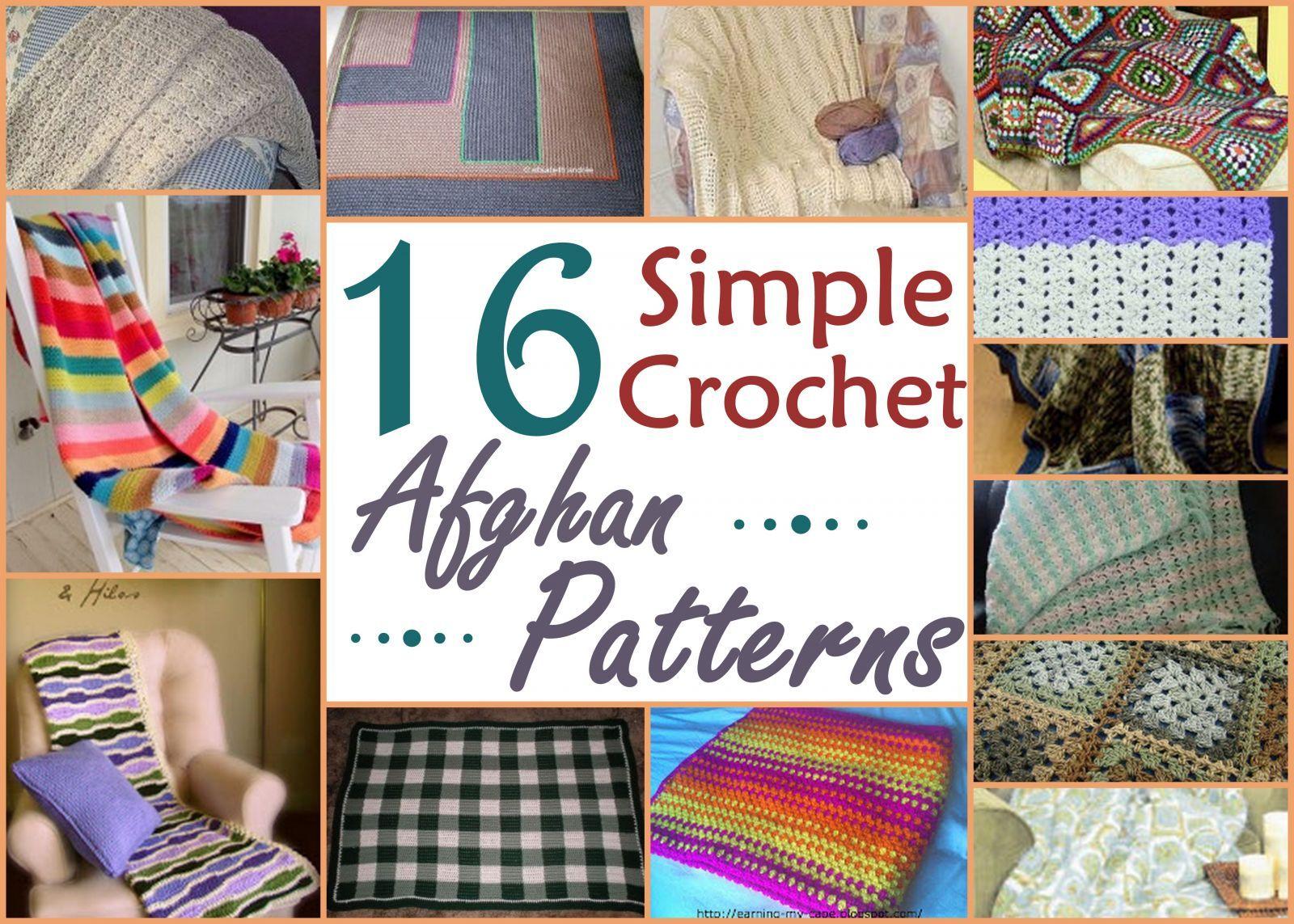 16 Simple Crochet Afghan Patterns | Manta