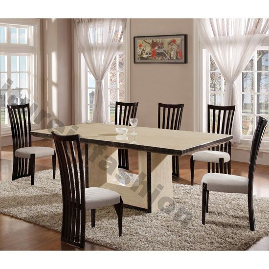 Does Your Diningroom Décor Matches Your Interiors Style If Not Then Get Hands On Chic Cream Marble Dining Table Marble Marble Dining Table Set Dining Table