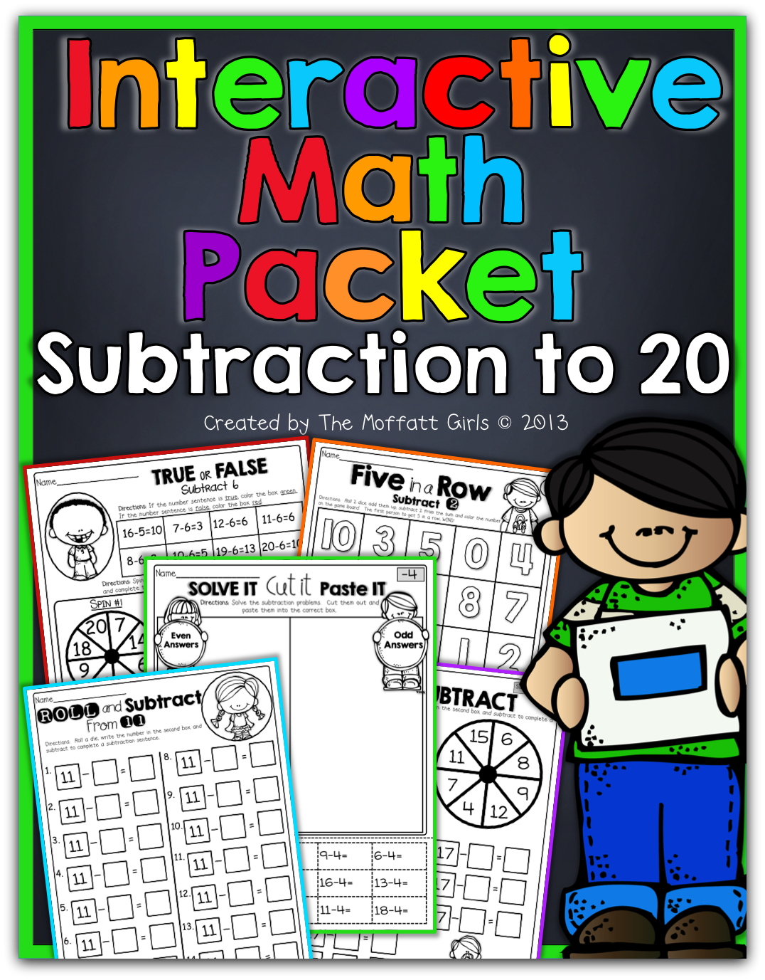Interactive Math Packet Subtraction Up To 20 Hands On