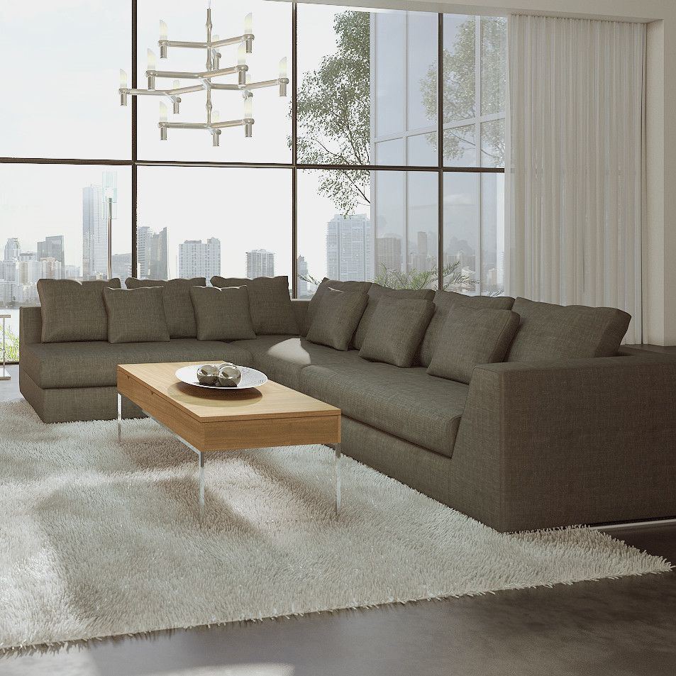 Barnes Residence Large Movie Depth Sectional Shown In Rendering