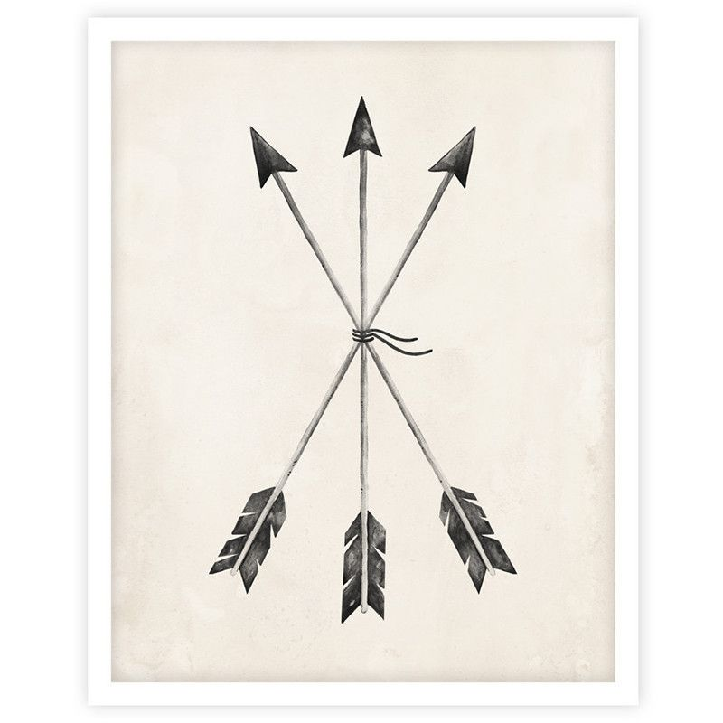 Illustrated Arrow Print By Kelli Murray For Rylee Cru Printed On Matte White Paper