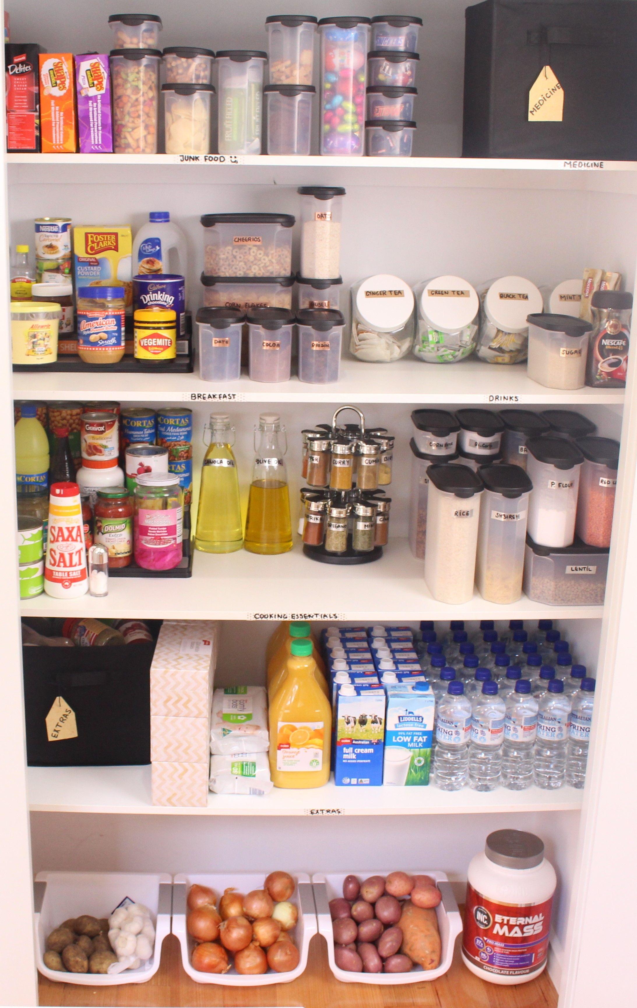 ترتيب تنظيم خزانة المونة Pantry Organisation دولاب المونة Kitchen Design Latest Kitchen Designs Design
