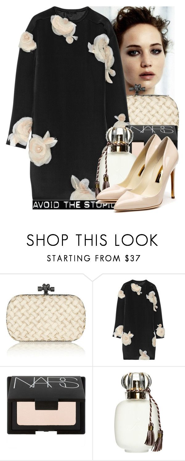 """""""talking only me and you"""" by isthisstyleor ❤ liked on Polyvore featuring Bottega Veneta, Lanvin, NARS Cosmetics, Les Parfums De Rosine and Rupert Sanderson"""