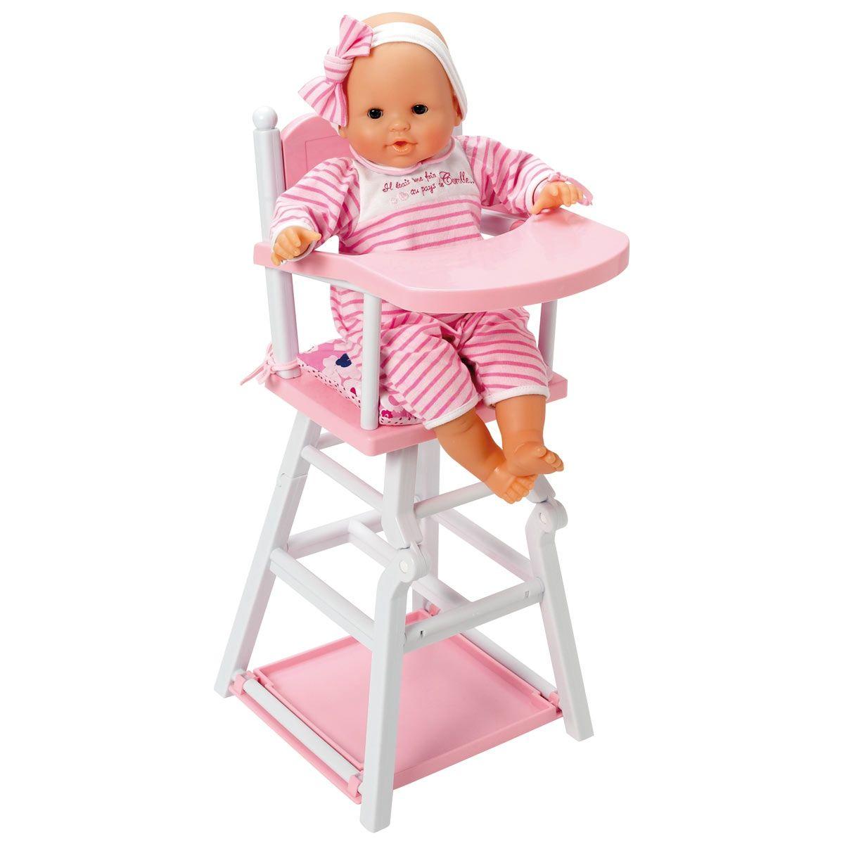 Corolle Mon Classique High Chair X05060 Chaise Haute Poupee Bebe Barbie Maison De Poupee Barbie