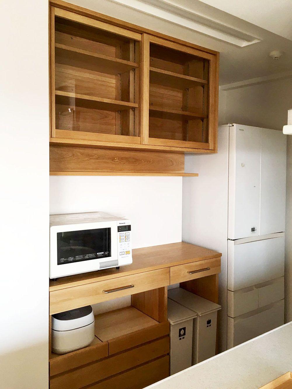 Oguma 大阪 北摂 吹田市千里山に事務所と豊中市に工房があるオーダー家具製作 キッチン制作 住宅設計 カップボード インテリア 収納 キッチン 背面収納