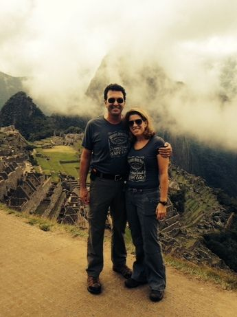 Sue and Marc at the historic site of Machu Picchu, one of the New Seven Wonders of the World