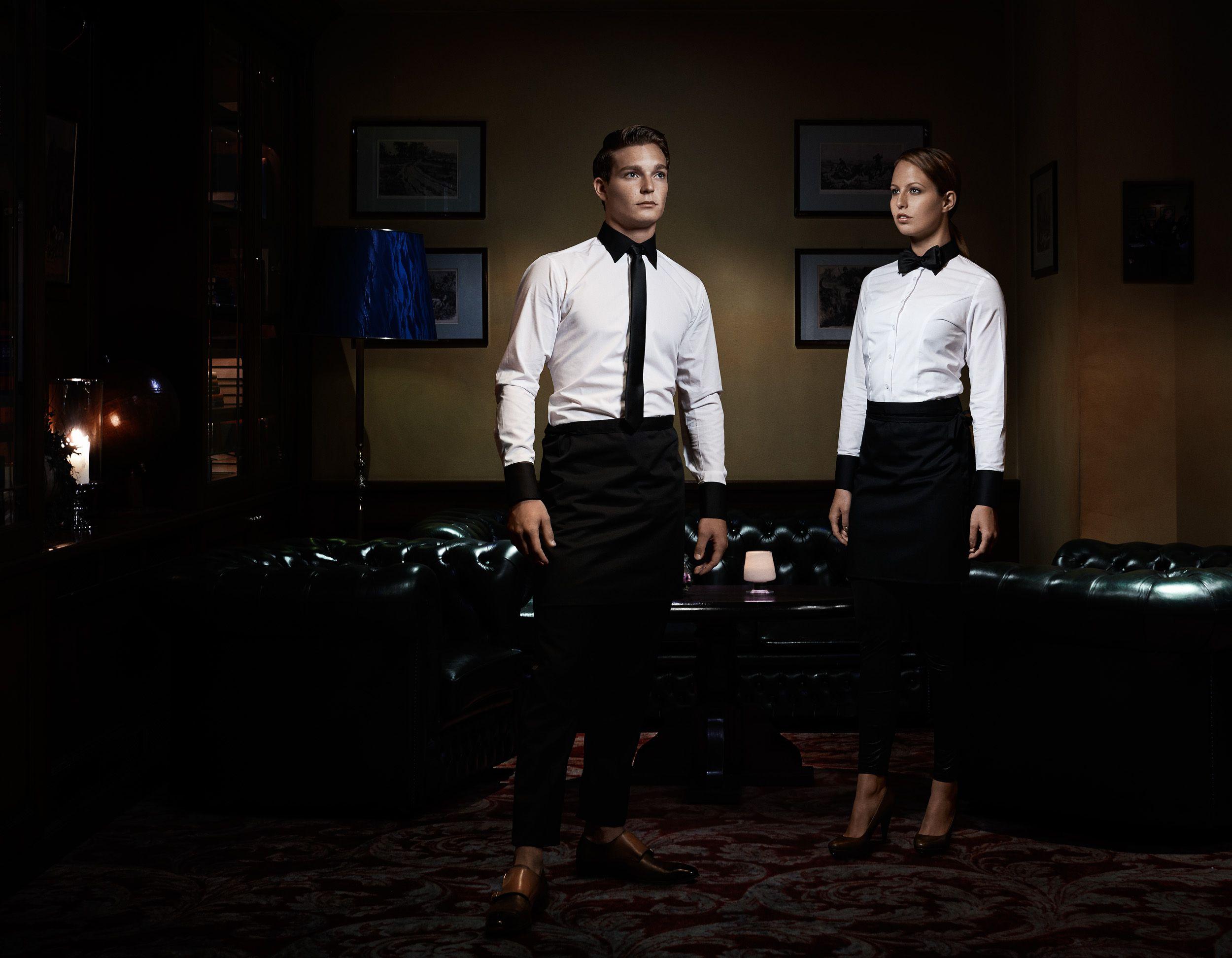 Strak modern fashionable suit up suit up horeca hotel