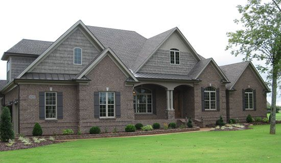 Front Exterior Of The Birchwood House Plan Number 1239 Craftsman House Plans Ranch Style Homes Craftsman House