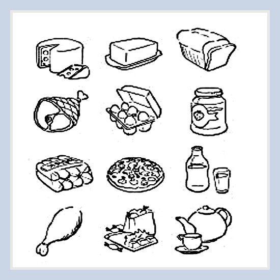 Dibujos De Alimentos Saludables Para Imprimir Y Colorear | Fotos De ...