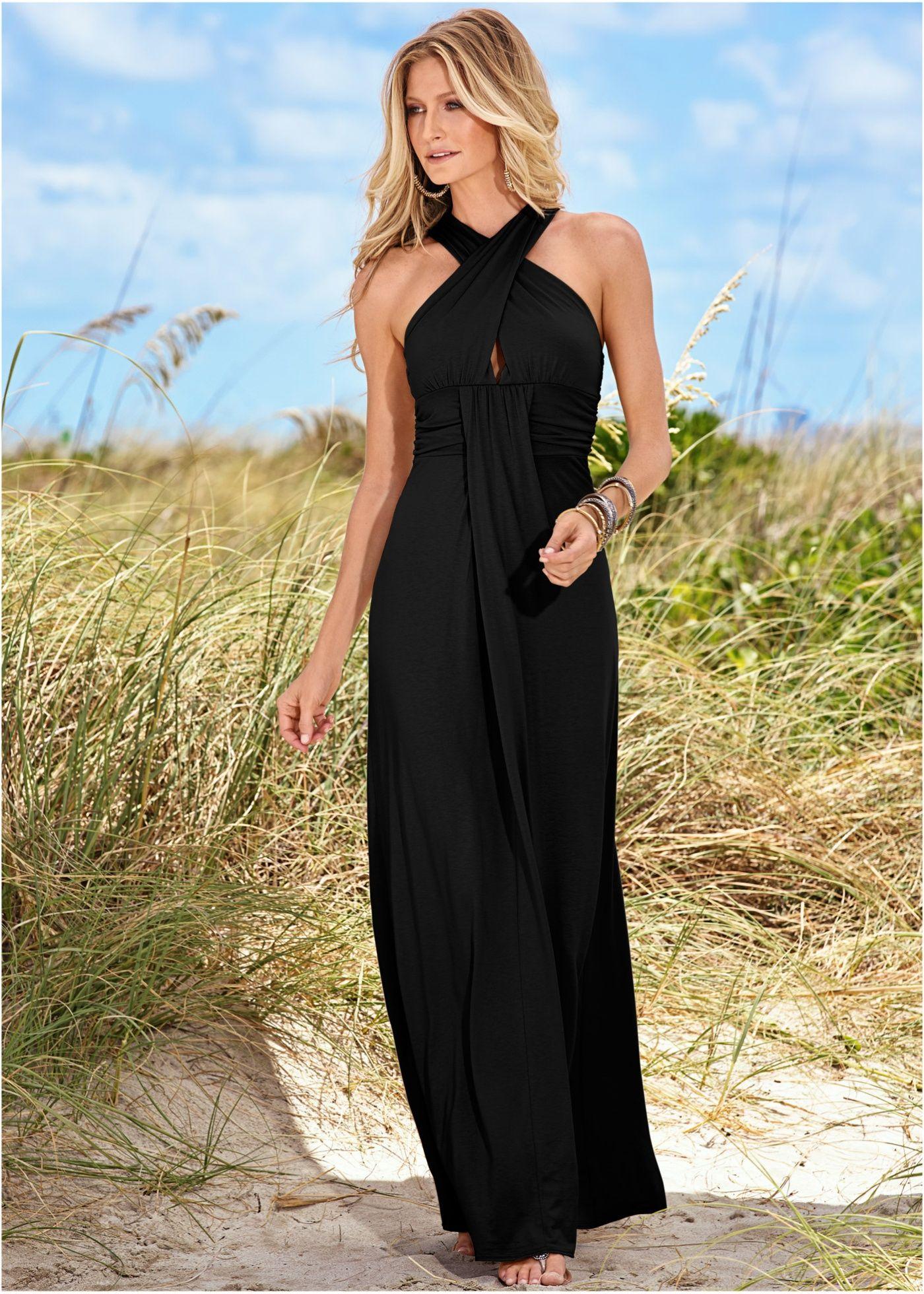 fbe9f9e5e Vestido longo preto encomendar agora na loja on-line bonprix.com.br R$  129,90 a partir de Vestido longo estampado sem mangas. Confeccionado em  malha de .