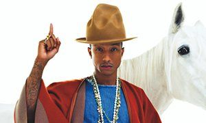 Pharrell Williams, http://www.theguardian.com/music/musicblog/2014/apr/08/pharrell-williams-happy-single.